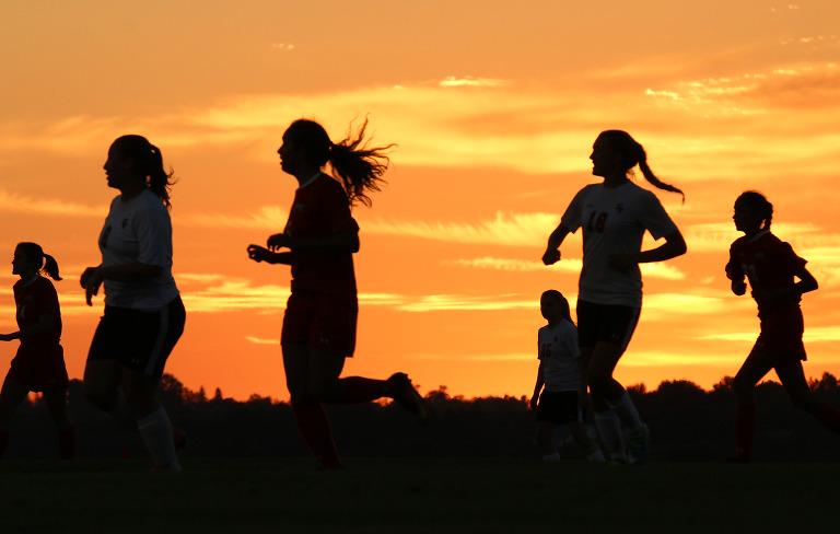 Soccer sunset portrait 3